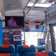Microbuses con recorrido del centro a Bajo Molle, cuentan con TV para los pasajeros