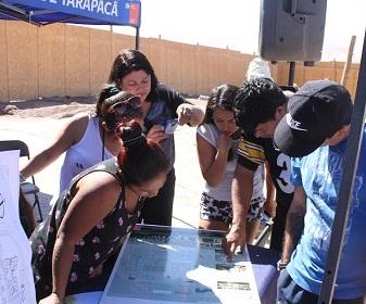 Dirigentes y familias conocen avances del proyecto habitacional La Pampa