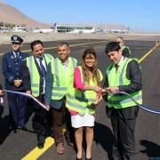 Más de 2 mil 750 millones de pesos puso el MOP en obras de  mejoramiento del aeropuerto Diego Aracena. Entregan tercera etapa