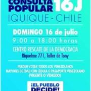 Convocan a venezolanos residentes en Tarapacá a participar en consulta popular