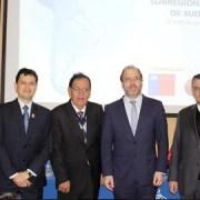 Ministro de Obras Públicas encabeza encuentro de integración internacional en la zona norte