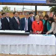 """Presidenta Bachelet junto al alcalde Mauricio Soria, colocan la primera piedra del nuevo estadio """"Tierra de Campeones"""""""