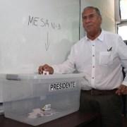 Senador Electo Jorge Soria, tras emitir su voto dijo, «veo ganador a Alejandro Guillier»
