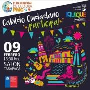 Cabildo Ciudadano convoca a artistas, gestores y centros culturales para avanzar en el Primer Plan Municipal de Cultura