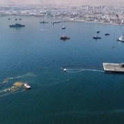 La EPI confirma que 8 mil son los litros de aceite de pescado que se derramaron sobre el muelle del espigón y 4 mil litros en el mar
