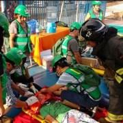 Con simulacro de terremoto vecinos de Padre Hurtado-NuevoChile finalizan curso de emergencia