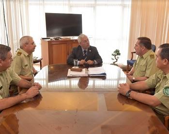 General de Carabineros inspecciona funcionamiento policial en la Región y coordina acciones con Intendente