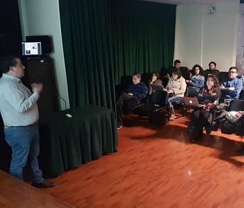 Un taller sobre buenas prácticas en redes sociales realizó el Colegio de Periodistas de Iquique