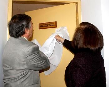 Descubren placa en homenaje a  Pablo Daud Saguer (QEPD), en Sala de Directores de la Cámara de Comercio