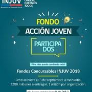 INJUV dispone de fondo de 200 millones de pesos para financiar iniciativas juveniles  en distintas categorías temáticas