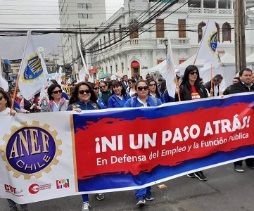 Presidente de la ANEF Tarapacá, Patricio Llerena, detenido en jornada de protesta, junto a otros 4 manifestantes, uno resultó con lesiones