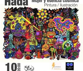 """Exposición """"Mujer y esencia cósmica"""" de la artista visual iquiqueña, Häda, se presentan en microgalería Bla bla"""