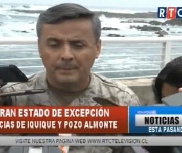 Estado de Emergencia para Provincia de Iquique y Pozo Almonte y toque de queda entre las 22.00 y las 07.00 hrs.