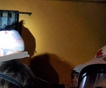 Dos jóvenes heridos en manifestaciones en zona cero. Un manifestante y un periodista español, ambos recibieron los primeros auxilios por brigadistas voluntarios