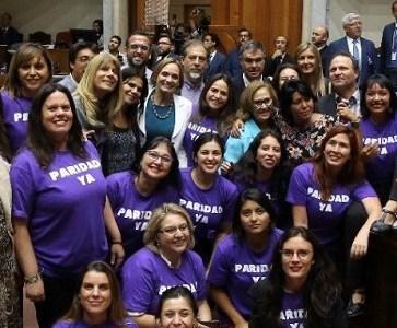 Senado aprobó el informe de la Comisión Mixta sobre reforma constitucional que garantizará la paridad de género en el órgano constituyente