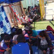 """Estadio Cavancha pasó de la figura de """"Refugio de Emergencia"""" a """"Albergue de Personas en Tránsito"""", acogiendo a 236 ciudadanos bolivianos, en cuarentena"""