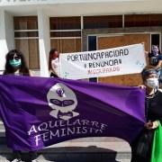 Mediante manifestación mujeres de la Coordinadora Feminista de Tarapacá, exigen renuncia de Seremi de Sernameg
