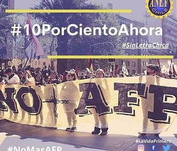 """""""Sin Letra chica"""" ANEF insiste en la aprobación en el Senado para el retiro del 10% de los fondos de las AFP."""
