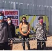 """La Coordinadora por el Derecho a la Salud, realizó una intervención en afueras del Estadio """"Tierra de Campeones"""""""