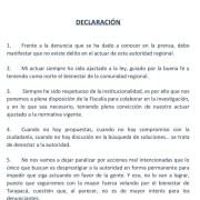 """Intendente Quezada ante acusaciones: """"Mi actuar siempre ha sido ajustado a la ley"""". Dice que se pone a disposición de la Fiscalía"""