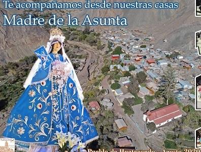 De manera virtual Hijos del pueblo de Huatacondo iniciaron fiestas patronales por Madre Asunta o Asunción de la Virgen