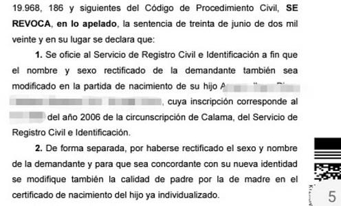 Corte ordena modificar certificado de nacimiento de hijo, permitiendo que padre sea reconocido como madre
