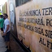 Rechazo generalizado por destrucción de mural que recuerda a Freddy Taberna, ejecutado en Pisagua.