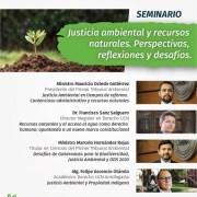 Convocan a seminario en línea que abordará los desafíos y perspectivas de la justicia ambiental y los recursos naturales