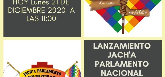 Realizan lanzamiento del JACH'A, el Parlamento Permanente del Pueblo Aymara, que se desarrollará durante enero y febrero del 2021