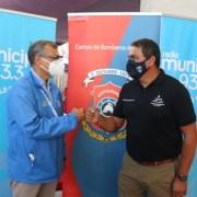 Salud Municipal de Iquique inició vacunación a bomberos. Se espera alcanzar unos 400 voluntarios