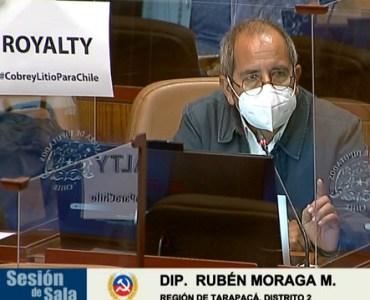 Diputado Rubén Moraga destaca aprobación de Royalty minero y respalda su aumento a un 13%
