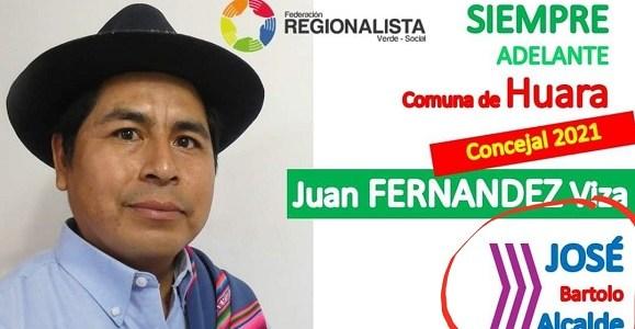 Huara: Candidato a concejal del Frente Regionalista respalda a José Bartolo de Chile Vamos, a la reelección como alcalde