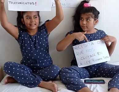 ¡A activar la solidaridad! Invitan a plato único por gemelas que padecen extraña y costosa enfermedad