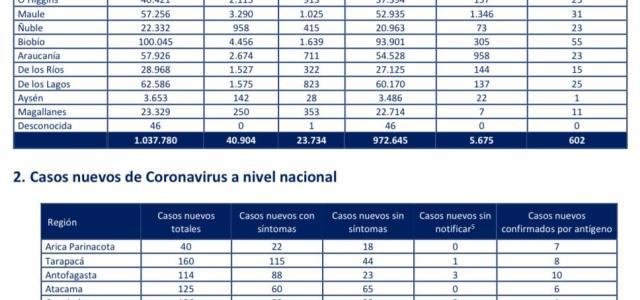 Tres nuevos decesos se registraron en la última jornada en Tarapacá y 160 contagios por Covid