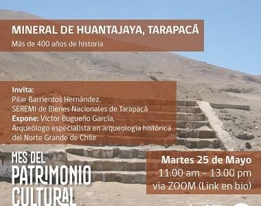 """Convocan a Conversatorio """"Mineral de Huantajaya, Tarapacá. Más de 400 años de historia"""""""