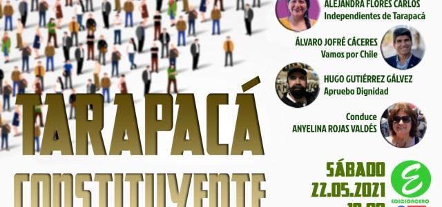 """""""Tarapacá Constituyente"""", el Conversatorio de Edición Cero que reunirá a los tres Convencionales de Tarapacá, este sábado 22"""