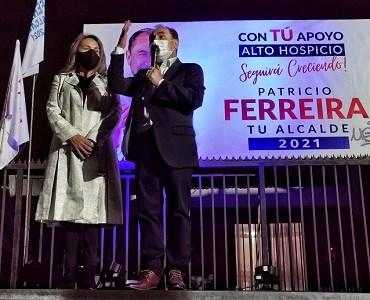 En Alto Hospicio reelecto Patricio Ferreira. Impone su liderazgo concentrando 36.3 % de las preferencias del electorado