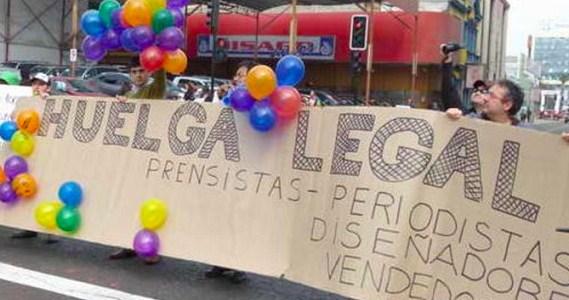 Setenta Trabajadores de la Empresa Periodística del Norte, de El Mercurio inician huelga en la zona norte