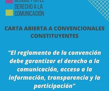 Piden a Convención garantizar derecho a la comunicación, acceso a la información, transparencia y participación
