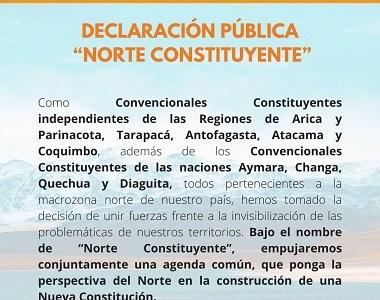"""Convencionales nortinos conforman bloque común """"Norte Constituyente"""" para representar mejor intereses regionales"""