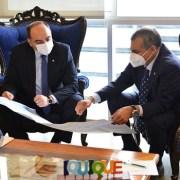 En visita al alcalde Soria, embajador de Paraguay en Chile destacó importancia de la proyección que su país hace de la relación con el Norte de Chile