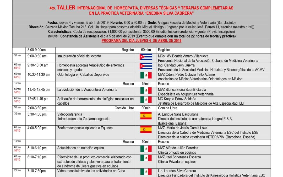 4to Encuentro Internacional de Terapias Complementarias en la Práctica Veterinaria