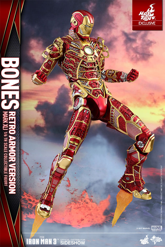 MARVEL IRON MAN MARK XLI  Mark 41  BONES RETRO ARMOR VERSION SDCC EXCLUSIVE 16 Action Figure