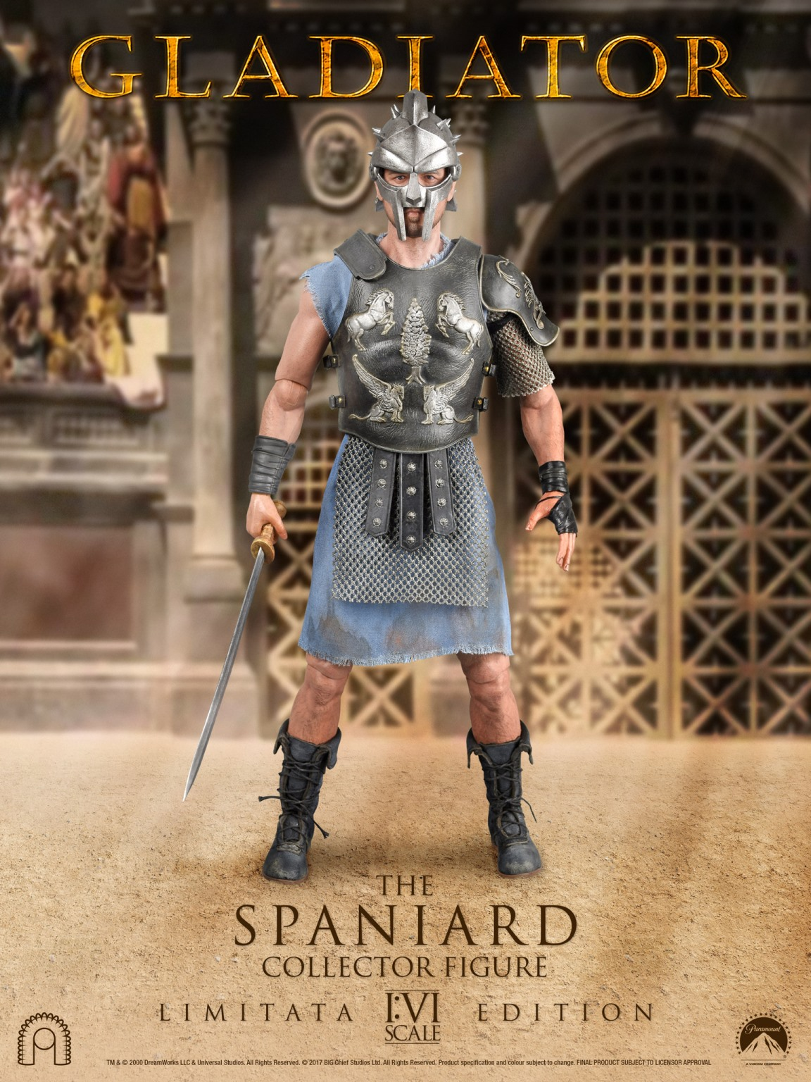 GLADIATOR the SPANIARD LIMITED EDITION 16 Action Figure 12 BIG CHIEF STUDIOS  Edicollector