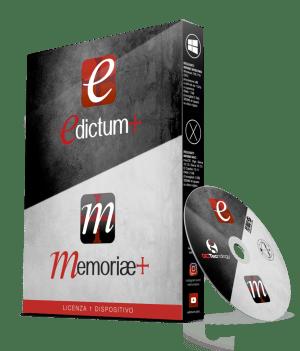 Pacchetto DVD Edictum+ e memoriae+ il Software per la stampa dei manifesti funebri lutto ringraziamenti luttini pagelline anniversari ricordini
