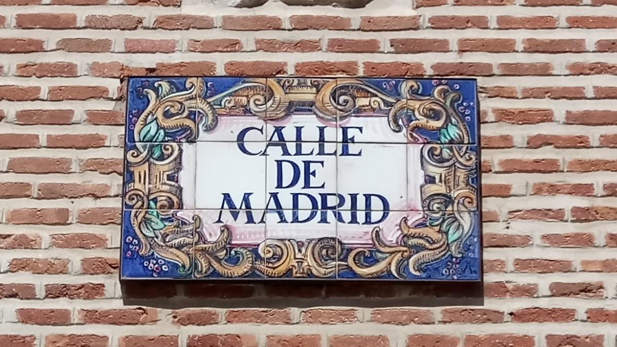Placas de las calles de Madrid  Madrid