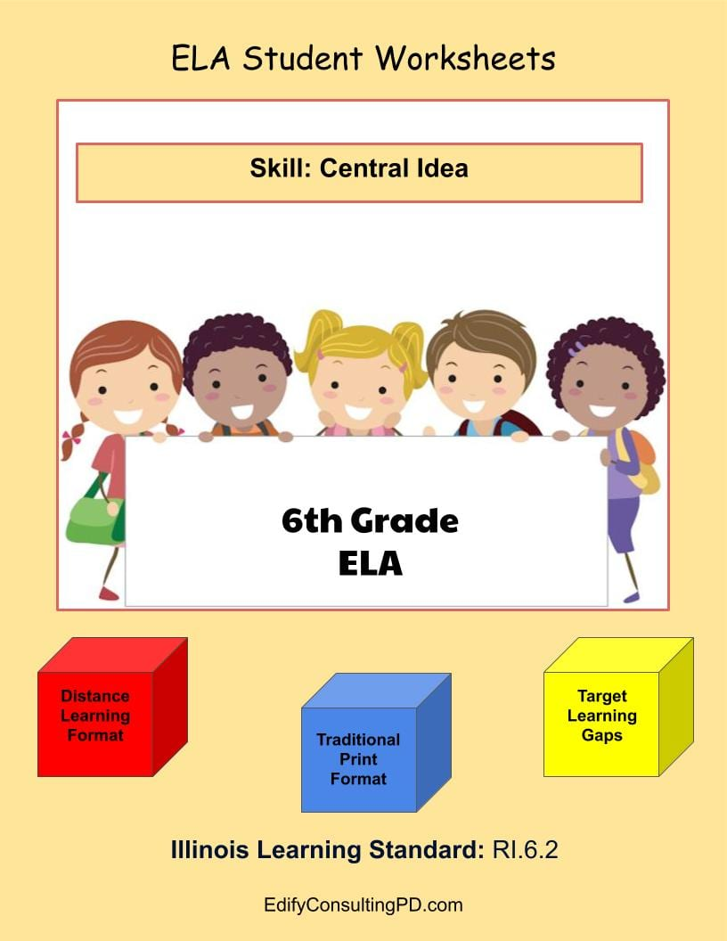 hight resolution of Illinois Worksheets RI.6.2 - Central Idea - Edify Consulting