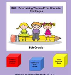 Illinois Worksheets RL.5.2 - Determine Theme From Character Challenges -  Edify Consulting [ 1056 x 816 Pixel ]