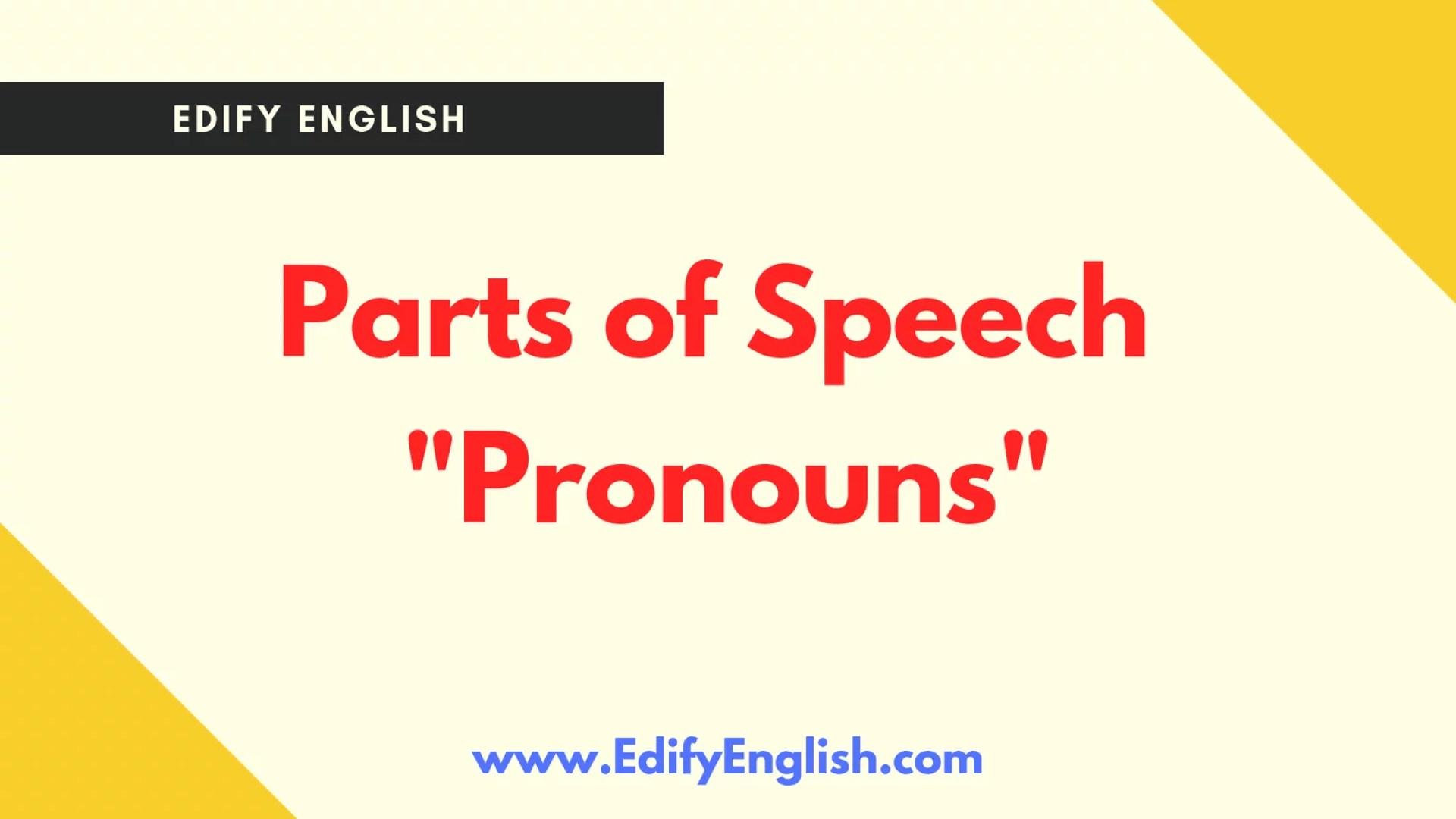 Pronouns Classification