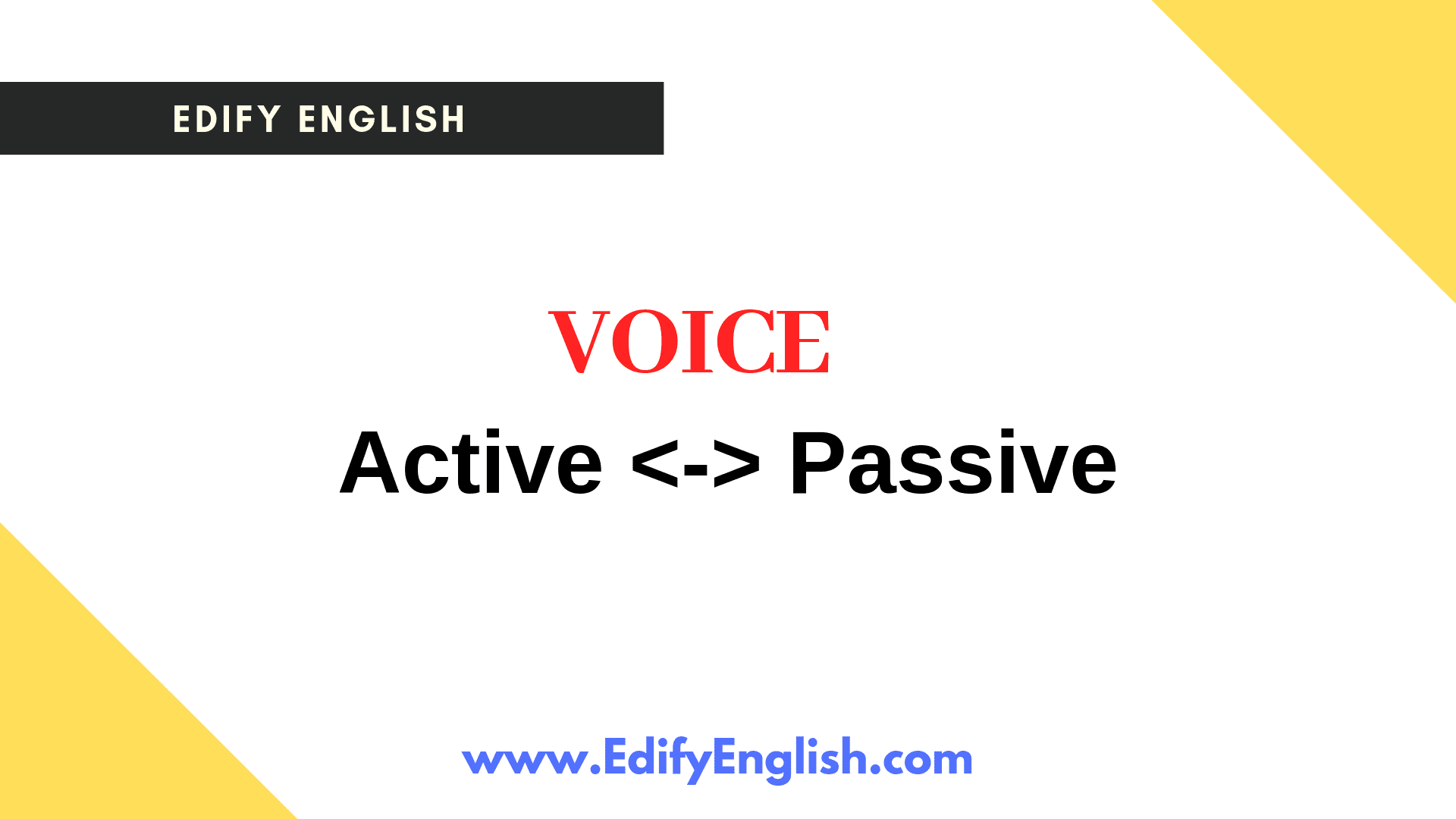Active Voice and Passive Voice Notes